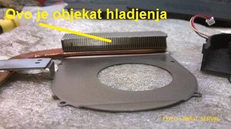 objekat hladjenja hladnjaka laptopa